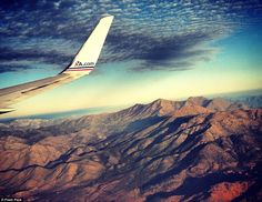 Monolithic beauty: A mountain range is captured by an American Airlines passenger