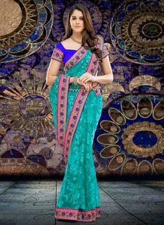 Indian Festive Saree Designs 2014   Rakhi Saree Fashion 2014-2015