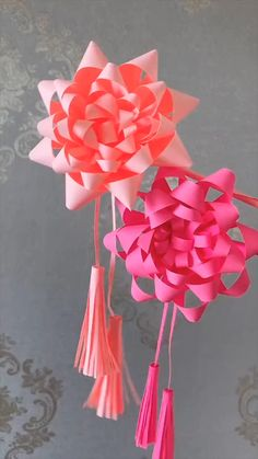 Cool Paper Crafts, Paper Flowers Craft, Paper Crafts Origami, Flower Crafts, Flower Diy, Diy Paper, Diy Crafts Hacks, Diy Crafts For Gifts, Diy Arts And Crafts