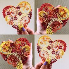 Paper Quilled 3D Heart #paperquilling #quilling #paperart #handcrafted #etsy #handmade #collectart #emergingartist #buyart #buyhandmade #instagood #instaart #paperedge #papercraft #homedecor #etsyshop #gift #lovehandmade #paperartist #paperwork #wallart #heartonfire #warmcolors #heart #redyelloworange #imadethis #makersgonnamake #diy