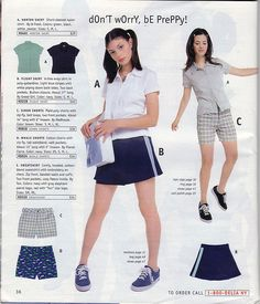 A preppy skirt by Greed Girl.) 31 Things You Desperately Needed From The Delia's Summer Catalog 90s Teen Fashion, Early 2000s Fashion, Retro Fashion, Vintage Fashion, Fashion Outfits, Preppy Fashion, Fashion 2017, Preppy Skirt, Zack Y Cody
