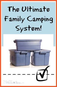 Love to camp, but find it too stressful, especially with kids? Printable camping…
