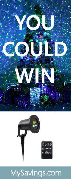 Win a Holidays Laser Light Projector! http://swee.ps/LIDtYgcQ LOVE TO WIN!!