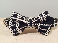 Black & White Geometric Dog Collar by SpoiledPawsBowtique on Etsy