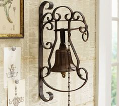 Shop decorative bell wall art from Pottery Barn. Our furniture, home decor and accessories collections feature decorative bell wall art in quality materials and classic styles. Modern Outdoor Furniture, Home Furniture, Ring My Bell, Dinner Bell, Awesome Bedrooms, Home Accents, Framed Wall Art, Candle Sconces, Decoration