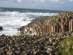 Giant's Causeway is a rock formation on the Antrim coast of Northern Ireland and consists of about 40,000 basalt columns rising out of the sea. Description from irelandlogue.com. I searched for this on bing.com/images