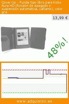 Cover-Up - Funda tipo libro para Kobo Aura HD (función de apagado y suspensión automática, cáñamo), color gris (Accesorio). Baja 48%! Precio actual 13,99 €, el precio anterior fue de 26,96 €. http://www.adquisitio.es/cover-up/funda-c%C3%A1%C3%B1amo-natural-41