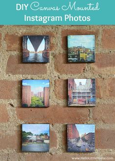 These DIY Canvas Mounted Instagram Photos to minutes to make and are the perfect…