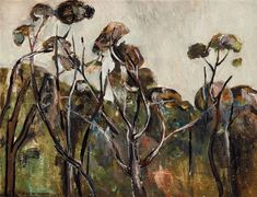View Lilydale Landscape (Circa By Fred Williams; oil on board; x cm; Access more artwork lots and estimated & realized auction prices on MutualArt. Contemporary Landscape, Abstract Landscape, Landscape Paintings, Abstract Art, Australian Painting, Australian Artists, Fred Williams, Painting Trees, Japanese Art