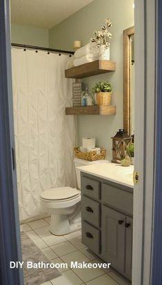 Awesome Modern Farmhouse Bathroom Decor Ideas Cabinets Design - nellwyn news Diy Bathroom Inspiration, Cottage Bathroom Design Ideas, Bad Inspiration, Bathroom Designs, Diy Bathroom Remodel, Diy Bathroom Decor, Bathroom Renovations, Bathroom Storage, Bathroom Ideas