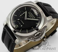 Panerai PAM 233 I - 1950 Luminor 8 Days GMT: $10,495 #Panerai #Watches