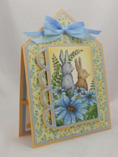TWO BUNNIES by jennygropp - Cards and Paper Crafts at Splitcoaststampers
