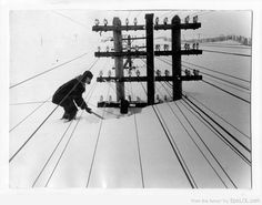 Winter in Siberia, 1960.