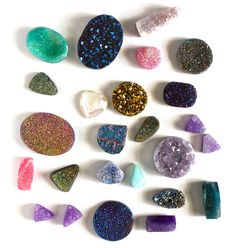 i can picture each of these crystals being turned into a fantastic ring. i'm drooling...