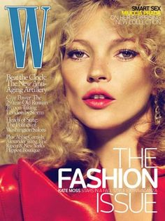 W magazine Kate Moss - love it when her hair's like that