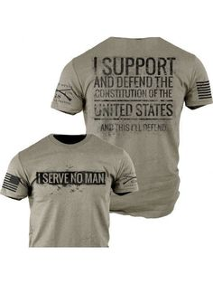 Serve No Man T-Shirt - Grunt Style Military Men's Grey Graphic Tee Shirt #GruntStyle #GraphicTee