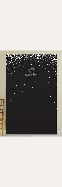 Personalized Black and White Dotted Photo Backdrop