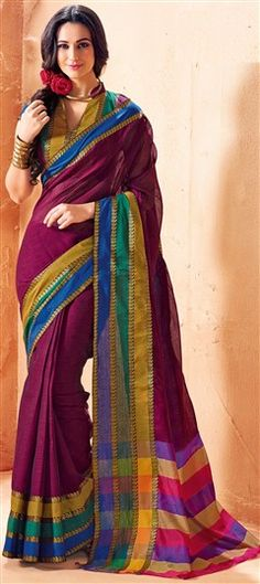 185987 Multicolor  color family Printed Sarees, Traditional Sarees in Cotton fabric with Printed work   with matching unstitched blouse.