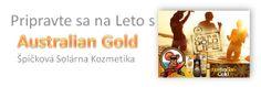 Špičková konopná solárna kozmetika značka Australian Gold. Výborné produkty do solárií. Príprava na letné radovánky Gold Live, Banner, Banner Stands, Banners