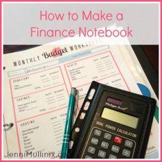 Organizing Finances with a Budgeting Notebook | Jenni Mullinix