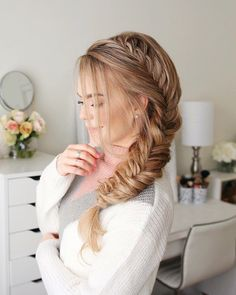57 Amazing Braided Hairstyles for Long Hair for Every Occasion Long Hair Braids: Braided Hairstyles for Long Hair: Side Fishtail Braid Side Braid Hairstyles, Braided Hairstyles Tutorials, Boy Hairstyles, African Hairstyles, Hairstyle Ideas, Hair Styles 2016, Medium Hair Styles, Curly Hair Styles, Braided Long Hair Styles
