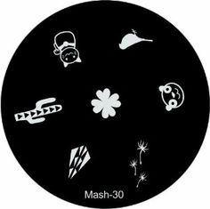 """MASH Nail Art Stamp Stamping Image Plate No 30 by MASH. Save 63 Off!. $2.99. Each plate measures about 1.8"""" (5.5cm in diameter). MASH nail art image plate scraper & stamper set sold separately. Has sanded edges and paper backing for easy, comfortable, and safe handling along with protective nylon screen. Competitors single plates retail for up to $8.00. Mash Nail Art Image Plate number 30 has seven unique designs including a Cactus, a Sparrow, and a Kitty.. The hottest new set of imag..."""