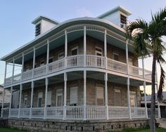 Stone #KeyWest house with spectacular curvy pieces in the Casa Marina district on United and Grinnell Streets.