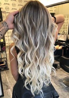 Excellent blonde balayage hair colors for long wavy hair - hairstyle . - Excellent blonde balayage hair colors for long wavy hair – hairstyle – - Ombre Hair Color, Hair Color Balayage, Cool Hair Color, Balyage Long Hair, Curly Balayage Hair, Bayalage, Brown Hair Balayage Blonde, Blonde Ombre, Long Ombre Hair