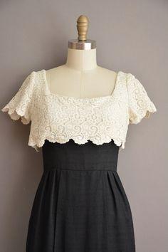 50 s noir dentelle blanche pétoncle wiggle par simplicityisbliss