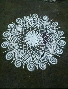 35 best mandala rangoli designs to try - wedandbeyond Easy Rangoli Designs Videos, Easy Rangoli Designs Diwali, Indian Rangoli Designs, Rangoli Designs Latest, Simple Rangoli Designs Images, Free Hand Rangoli Design, Rangoli Border Designs, Small Rangoli Design, Rangoli Patterns