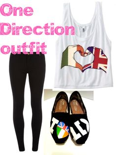 A One Direction outfit always makes me smile! Love the shoes.. anyone know where to get them??