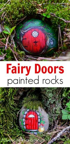Learn how to make a fairy door from a painted rock! Hide the fairy rocks around or build a village of magical fairy houses in your backyard. art ideas for kids DIY Fairy Doors from Painted Rocks Pebble Painting, Pebble Art, Stone Painting, Painting Rocks For Garden, Diy Painting, Rock Painting Ideas For Kids, Kids Crafts, Kids Diy, Kids Garden Crafts