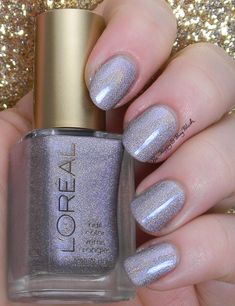 L'Oreal Masked Affair | Be Happy And Buy Polish http://behappyandbuypolish.com/2014/12/19/loreal-dark-sides-of-grey-nail-polishes-swatches-review/