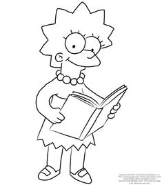 Milhouse Colouring Pages (page 3)