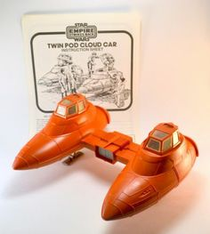 Vintage Star Wars Twin-Pod Cloud Car Complete with Instructions 1980 Kenner…