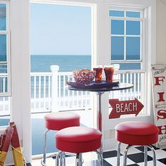 Right Outside {Coastal Colors: Red, White, & Blue}