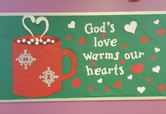 Religious Bulletin Boards, Bible Bulletin Boards, February Bulletin Boards, Valentines Day Bulletin Board, Christian Bulletin Boards, Winter Bulletin Boards, Bible School Crafts, Sunday School Crafts, Bible Crafts