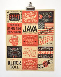 Coffee Lovers by MaryKateMcDevitt on Etsy, $50.00