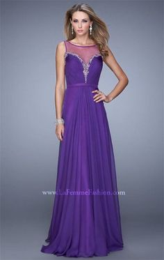 Majestic Purple Evening Gown by La Femme 20956 for 2015