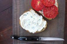 Tomato Sandwich with Herbed Ricotta - Squash Blossom Kitchens