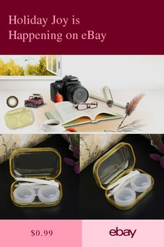 Just Easy Carry 1pc Travel Glasses Contact Lenses Box Contact Lens Case For Eyes Care Kit Holder Container Gift Drop Ship # Eyewear Accessories