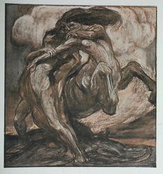 Man Struggling with a Centaur by Gerald Moira The Studio magazine 1901