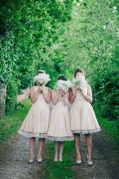 Fun quirky wedding photo idea for bridesmaids