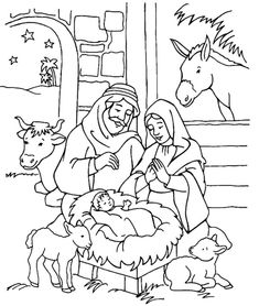 jesus is born coloring sheet jesus is born coloring pages picture 11