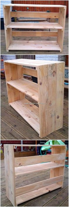 Shelving table plan is finished here for you as created with the wood working all inner it. This shelving table plan has been so creative designed out with the wooden pallet in which the smooth ending has been dramatic designed out for you. Wooden Pallet Shelves, Wood Pallet Furniture, Wooden Pallets, Planter Box Designs, Pallet Projects, Diy Projects, Small Baths, Shelving Design, Shipping Pallets