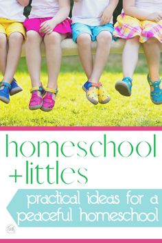 simple ideas for combining homeschool with preschool while keeping the peace. - keep little ones happily occupied with simple activities for toddlers and preschoolers and other strategies for making it through the day
