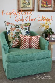 Great tutorial on reupholstering.  I've been wanting to do this, but have been so nervous..