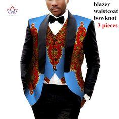 Mens African Clothing Two Pieces Set Mens Jackets and Coats Mens Blazer Slim Fit Blazer Jacket Dashiki Men Plus Size 6XL WYN176