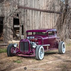 Looking back at the Barn Shoot from 2011 this is my buddy Jack's #hotrod Model A he also has a stock one that he rebuilt when he was in HS. I'd make an old joke... but he knows :) #Ford #HopUp #HopUpLive #whitewalls #Chrome #purple