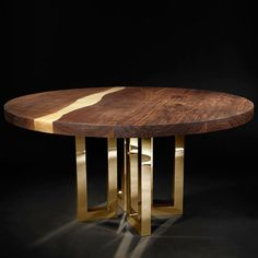 Il Pezzo 6 Round Table Brass - Timeless furniture handmade in Italy: tables, chairs, sideboards and cabinets - Home Décor and Interior Design ideas from Italy's finest artisans - Artemest